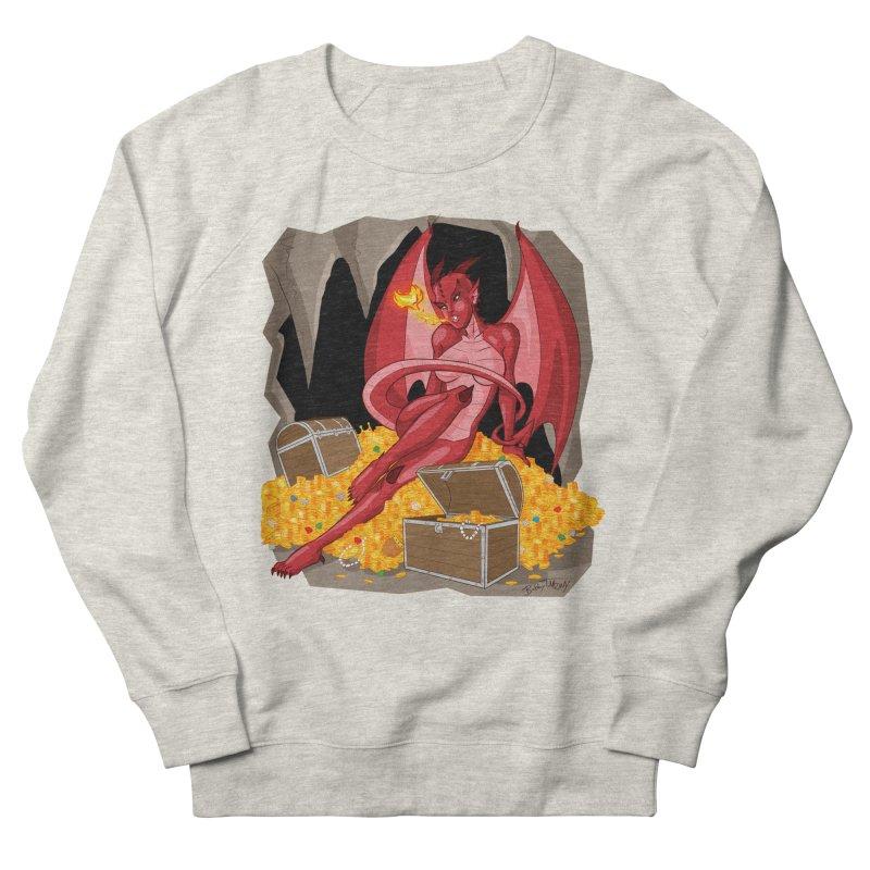 Dragon Pin Up Girl Men's French Terry Sweatshirt by Twin Comics's Artist Shop