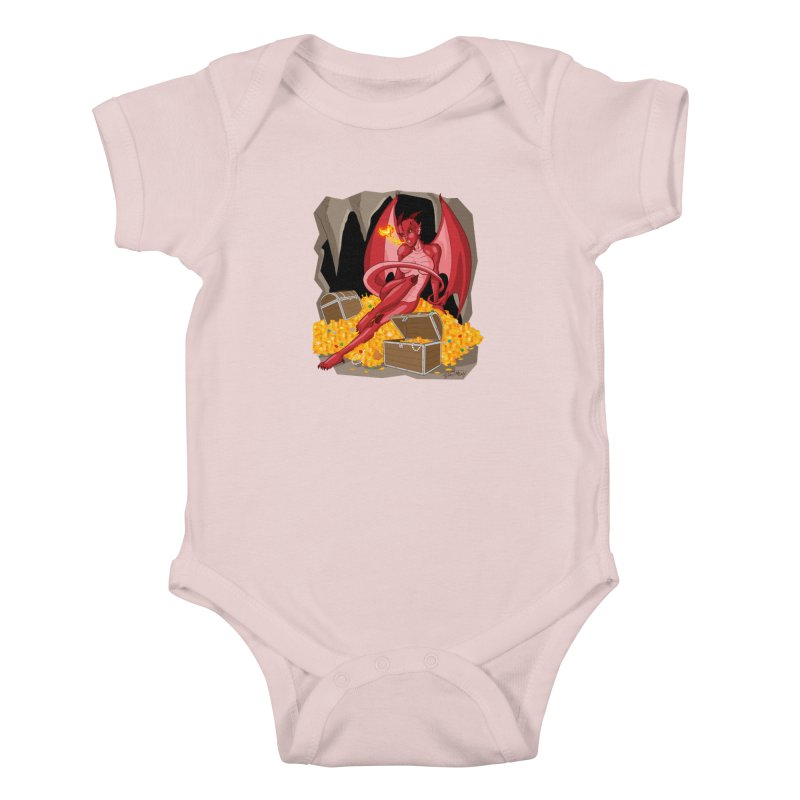 Dragon Pin Up Girl Kids Baby Bodysuit by Twin Comics's Artist Shop