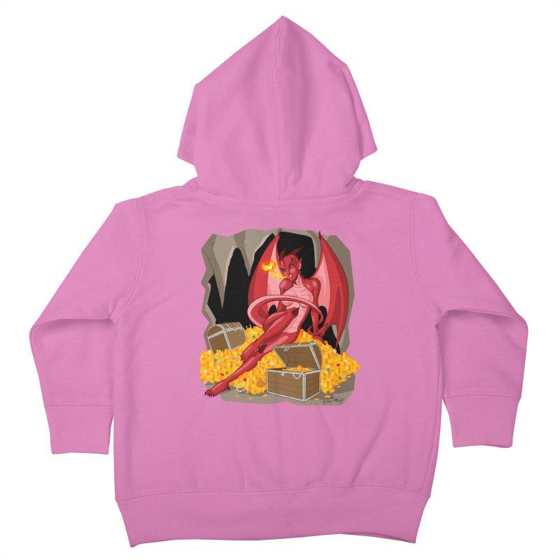 Dragon Pin Up Girl Kids Toddler Zip-Up Hoody by Twin Comics's Artist Shop