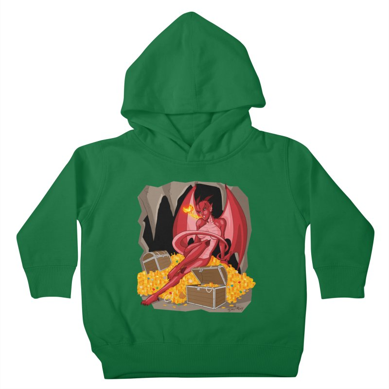 Dragon Pin Up Girl Kids Toddler Pullover Hoody by Twin Comics's Artist Shop