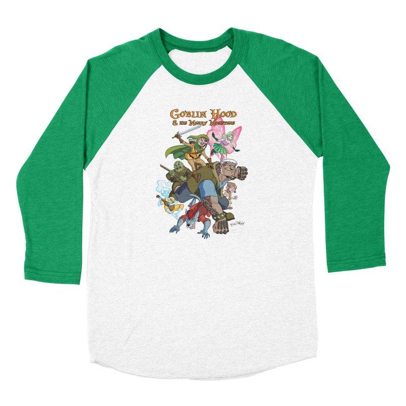 Goblin Hood & his Merry Monsters Men's Baseball Triblend Longsleeve T-Shirt by Twin Comics's Artist Shop