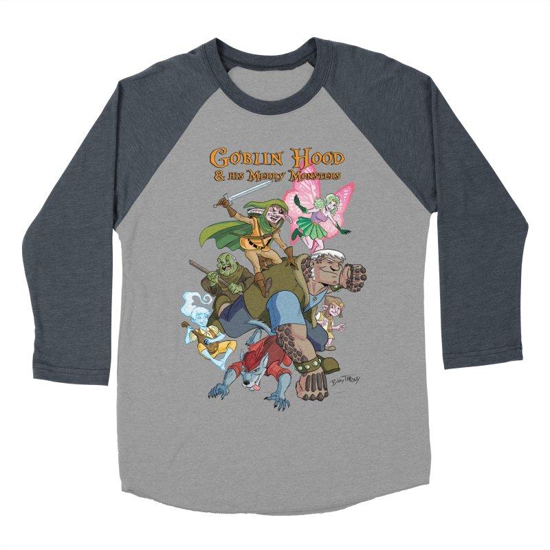 Goblin Hood & his Merry Monsters Women's Baseball Triblend Longsleeve T-Shirt by Twin Comics's Artist Shop