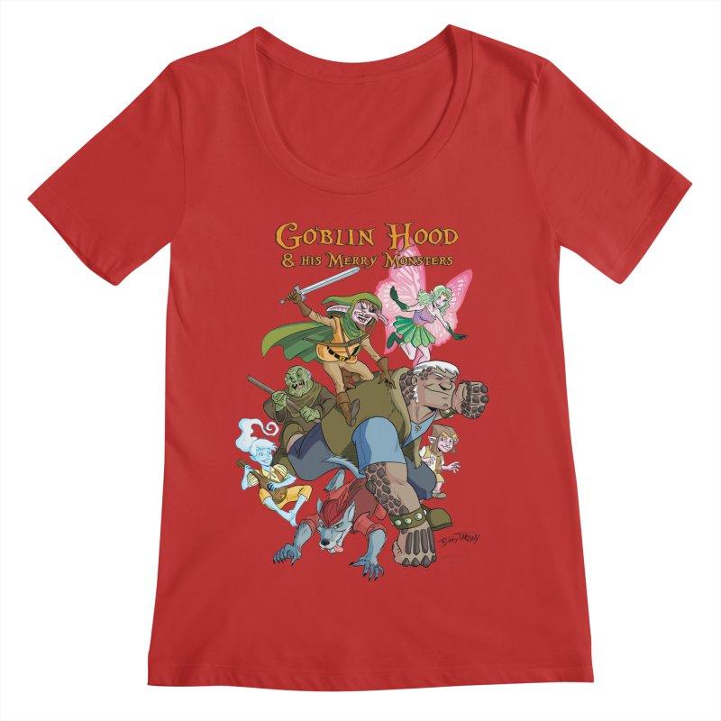 Goblin Hood & his Merry Monsters Women's Regular Scoop Neck by Twin Comics's Artist Shop