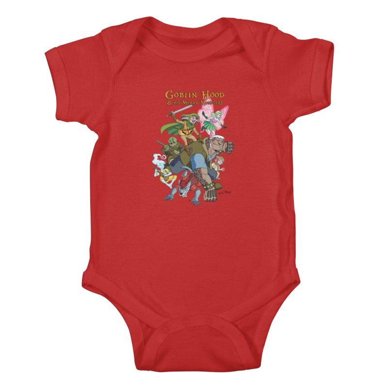 Goblin Hood & his Merry Monsters Kids Baby Bodysuit by Twin Comics's Artist Shop