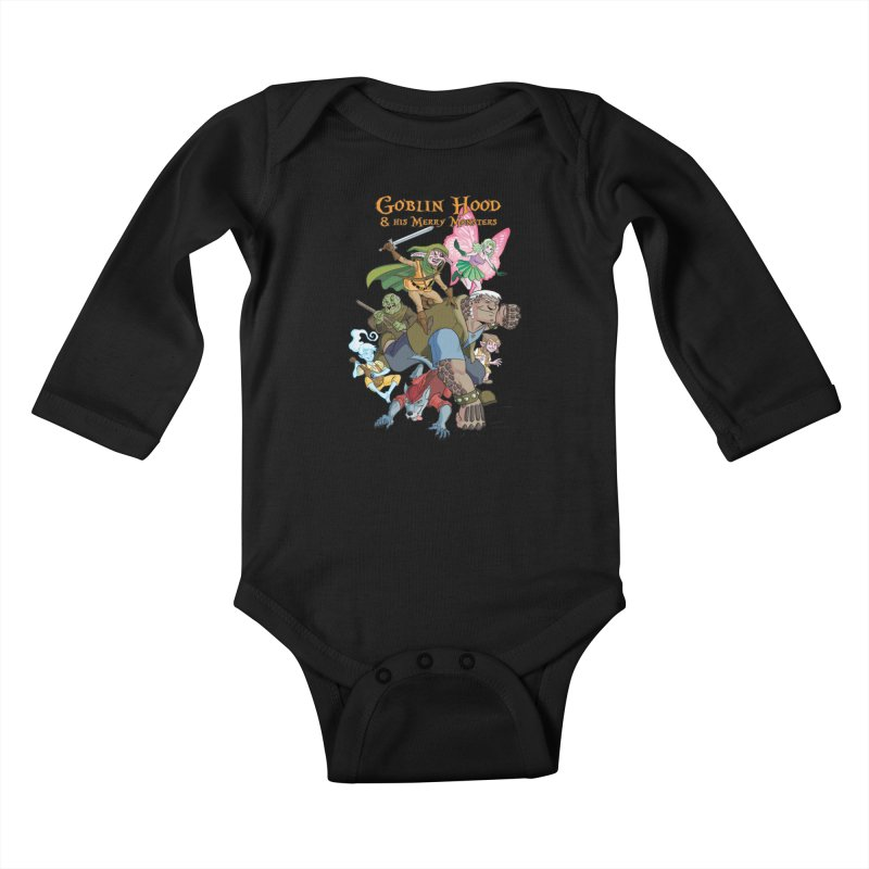 Goblin Hood & his Merry Monsters Kids Baby Longsleeve Bodysuit by Twin Comics's Artist Shop