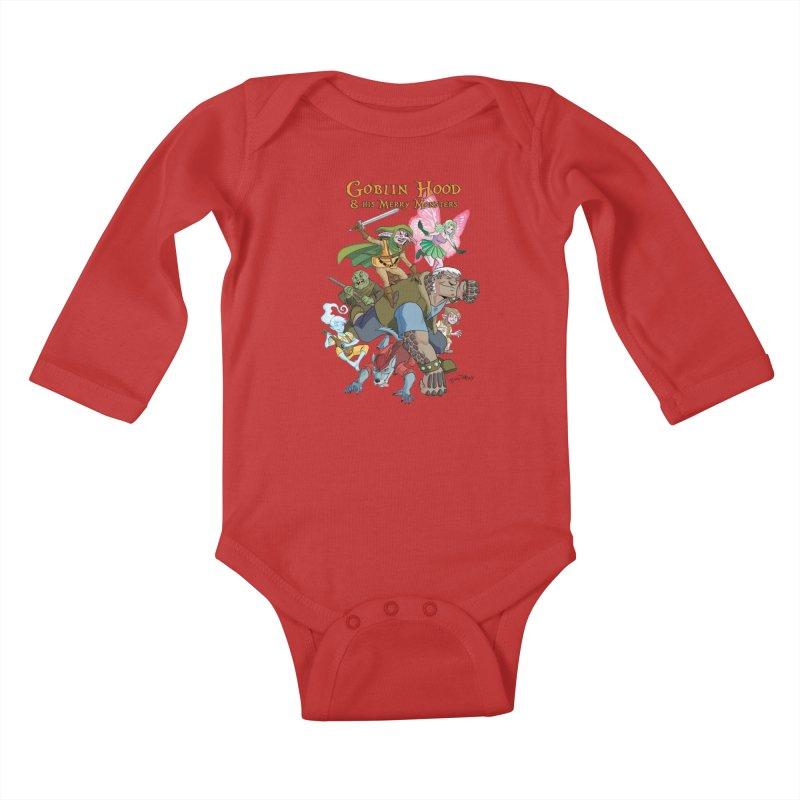 Goblin Hood & his Merry Monsters Kids Baby Longsleeve Bodysuit by Twin Comics's Artist Shop