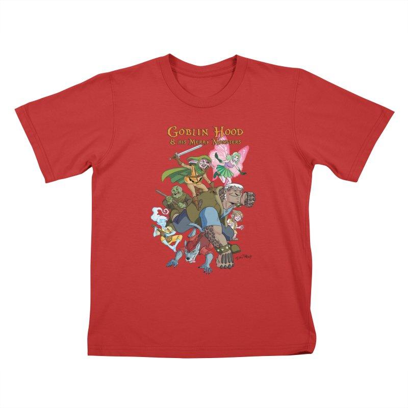 Goblin Hood & his Merry Monsters Kids T-Shirt by Twin Comics's Artist Shop