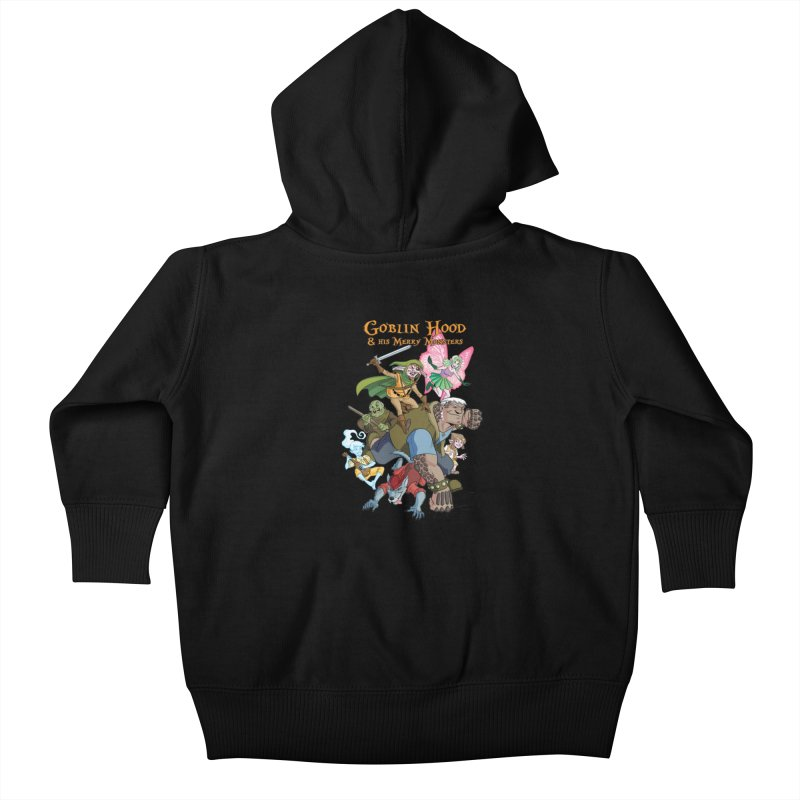Goblin Hood & his Merry Monsters Kids Baby Zip-Up Hoody by Twin Comics's Artist Shop