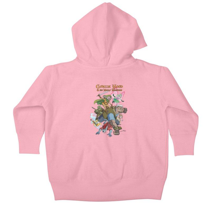 Goblin Hood & his Merry Monsters Kids Baby Zip-Up Hoody by Twin Comics's Artist Shop