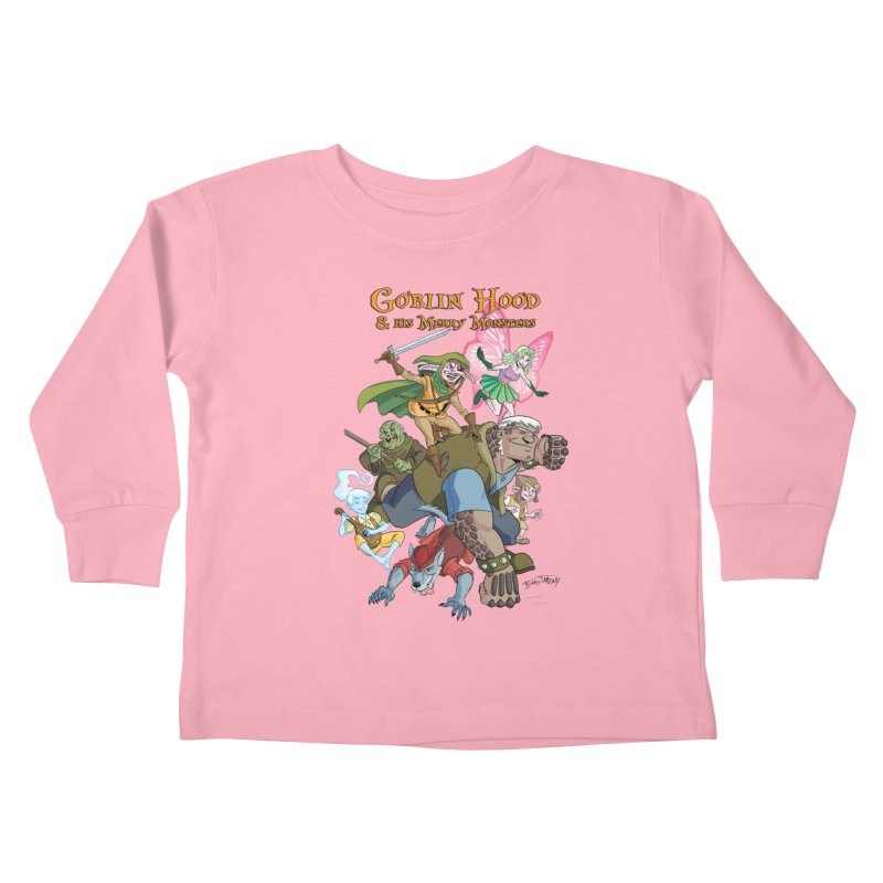 Goblin Hood & his Merry Monsters Kids Toddler Longsleeve T-Shirt by Twin Comics's Artist Shop