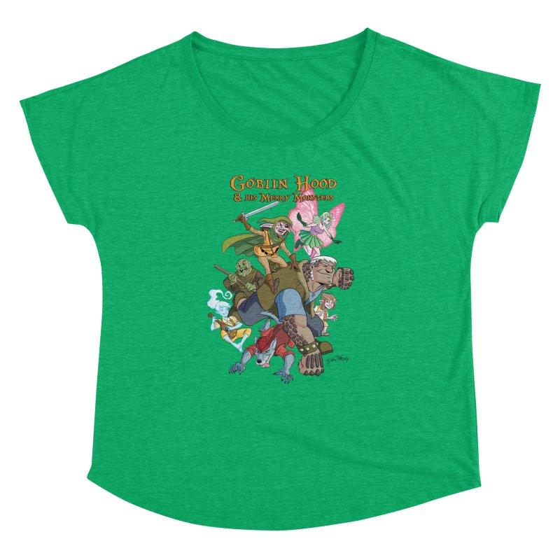 Goblin Hood & his Merry Monsters Women's Dolman Scoop Neck by Twin Comics's Artist Shop