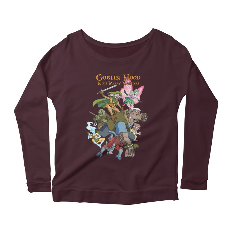 Goblin Hood & his Merry Monsters Women's Scoop Neck Longsleeve T-Shirt by Twin Comics's Artist Shop