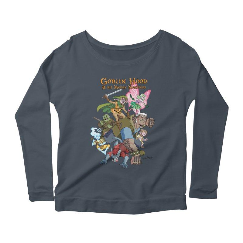 Goblin Hood & his Merry Monsters Women's Scoop Neck Longsleeve T-Shirt by Twin Comics's Artist Shop