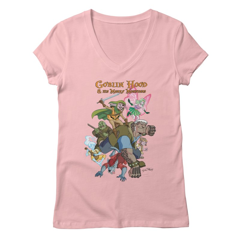 Goblin Hood & his Merry Monsters Women's V-Neck by Twin Comics's Artist Shop