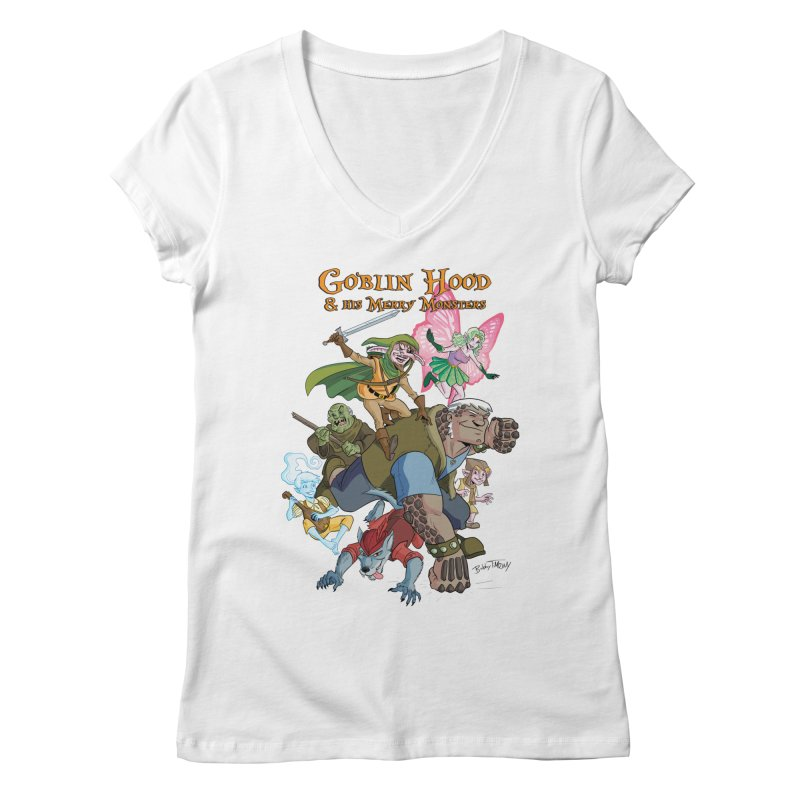 Goblin Hood & his Merry Monsters Women's Regular V-Neck by Twin Comics's Artist Shop