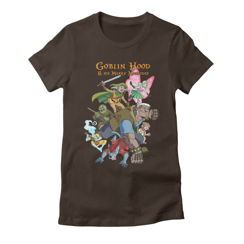 Goblin Hood & his Merry Monsters Women's Fitted T-Shirt by Twin Comics's Artist Shop