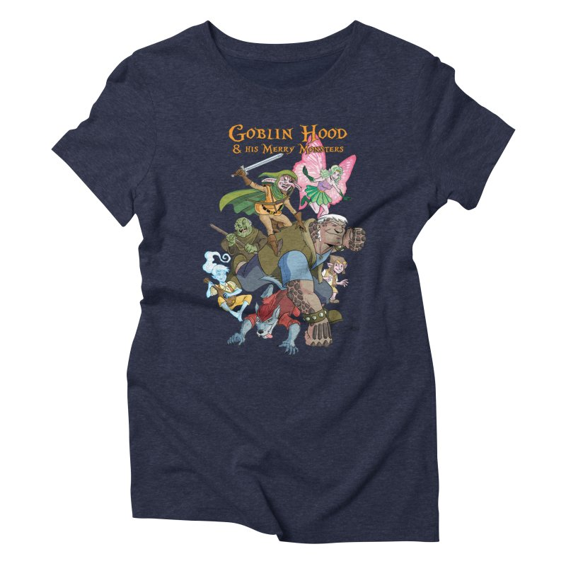 Goblin Hood & his Merry Monsters Women's Triblend T-Shirt by Twin Comics's Artist Shop