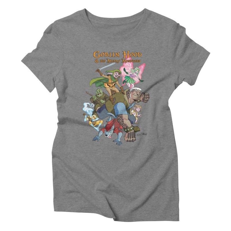 Goblin Hood & his Merry Monsters Women's Triblend T-Shirt by Twin Comics's Artist Shop