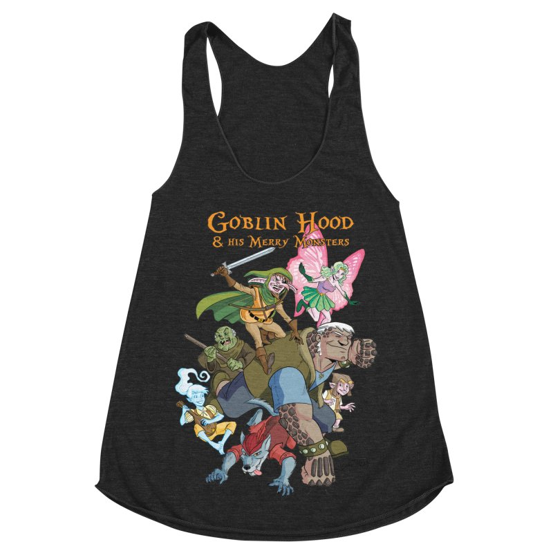 Goblin Hood & his Merry Monsters Women's Racerback Triblend Tank by Twin Comics's Artist Shop