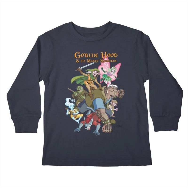 Goblin Hood & his Merry Monsters Kids Longsleeve T-Shirt by Twin Comics's Artist Shop