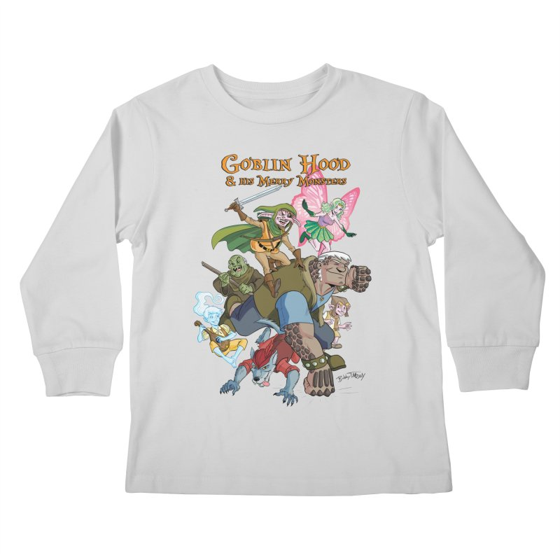 Goblin Hood & his Merry Monsters Kids Longsleeve T-Shirt by Twin Comics's Artist Shop