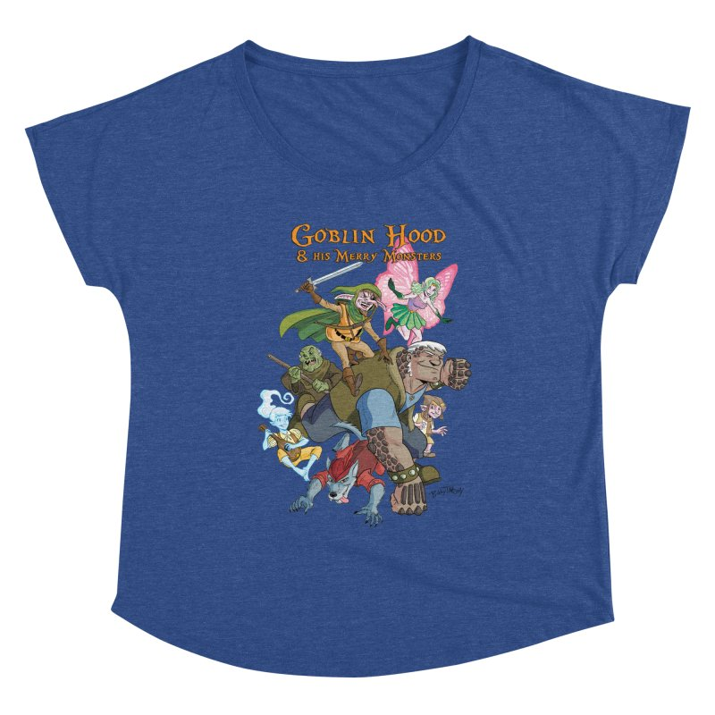 Goblin Hood & his Merry Monsters Women's Scoop Neck by Twin Comics's Artist Shop