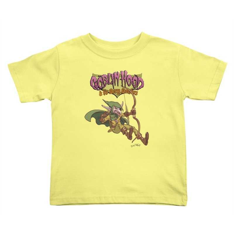 Goblin Hood Kids Toddler T-Shirt by Twin Comics's Artist Shop
