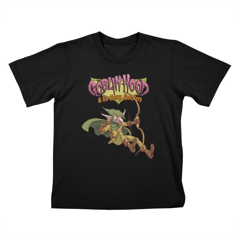Goblin Hood Kids T-Shirt by Twin Comics's Artist Shop