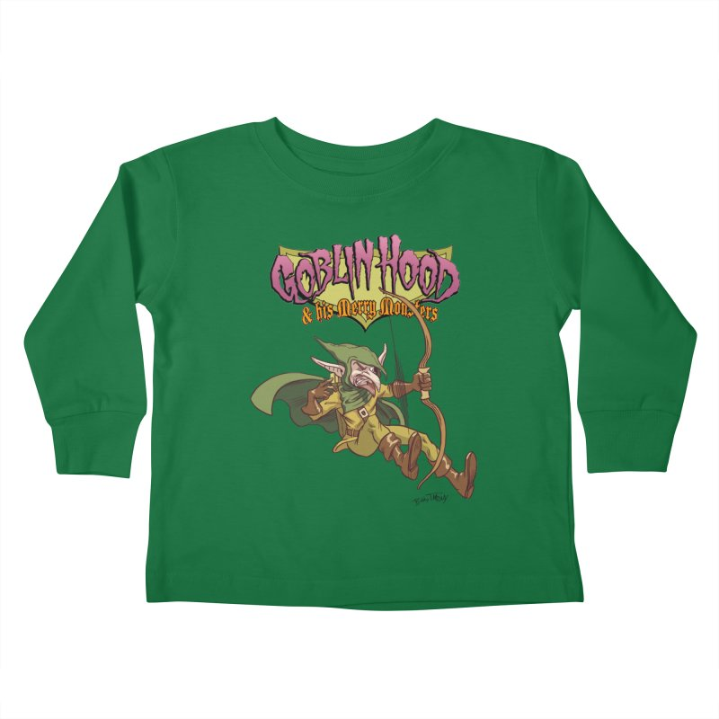 Goblin Hood Kids Toddler Longsleeve T-Shirt by Twin Comics's Artist Shop