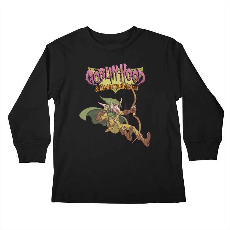 Goblin Hood Kids Longsleeve T-Shirt by Twin Comics's Artist Shop