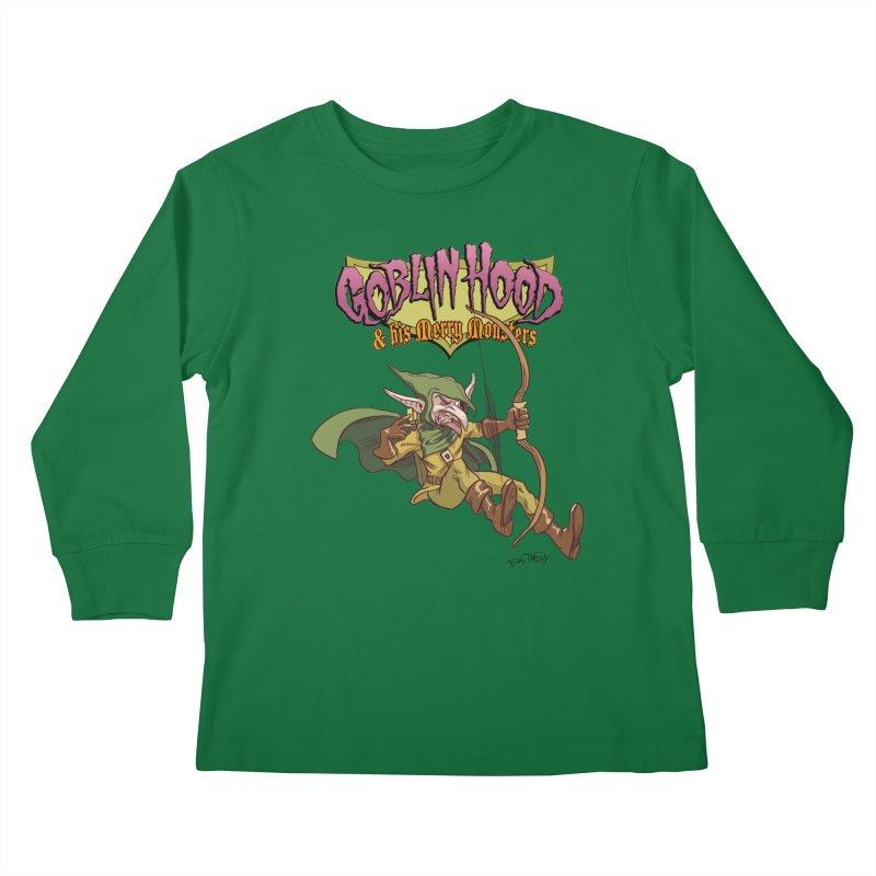 Goblin Hood Kids Longsleeve T-Shirt by Twin Comics's Artist Shop