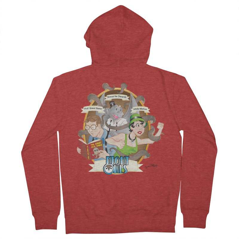 Night Owls Men's French Terry Zip-Up Hoody by Twin Comics's Artist Shop