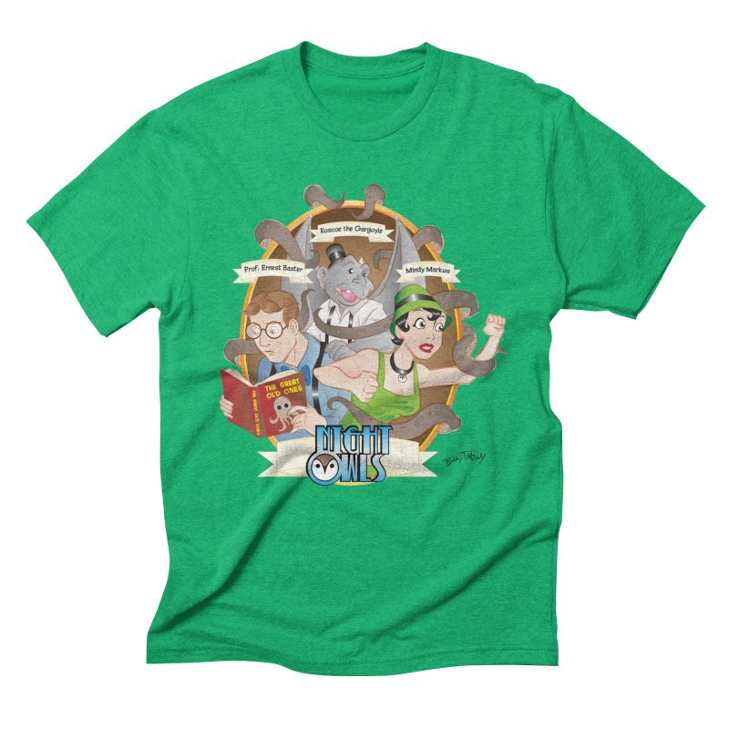 Night Owls Men's Triblend T-Shirt by Twin Comics's Artist Shop