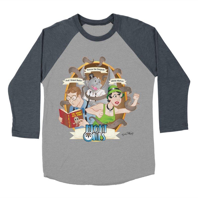 Night Owls Women's Baseball Triblend Longsleeve T-Shirt by Twin Comics's Artist Shop