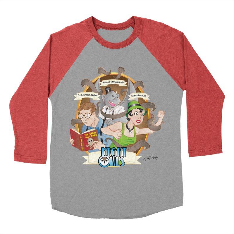 Night Owls Men's Baseball Triblend Longsleeve T-Shirt by Twin Comics's Artist Shop