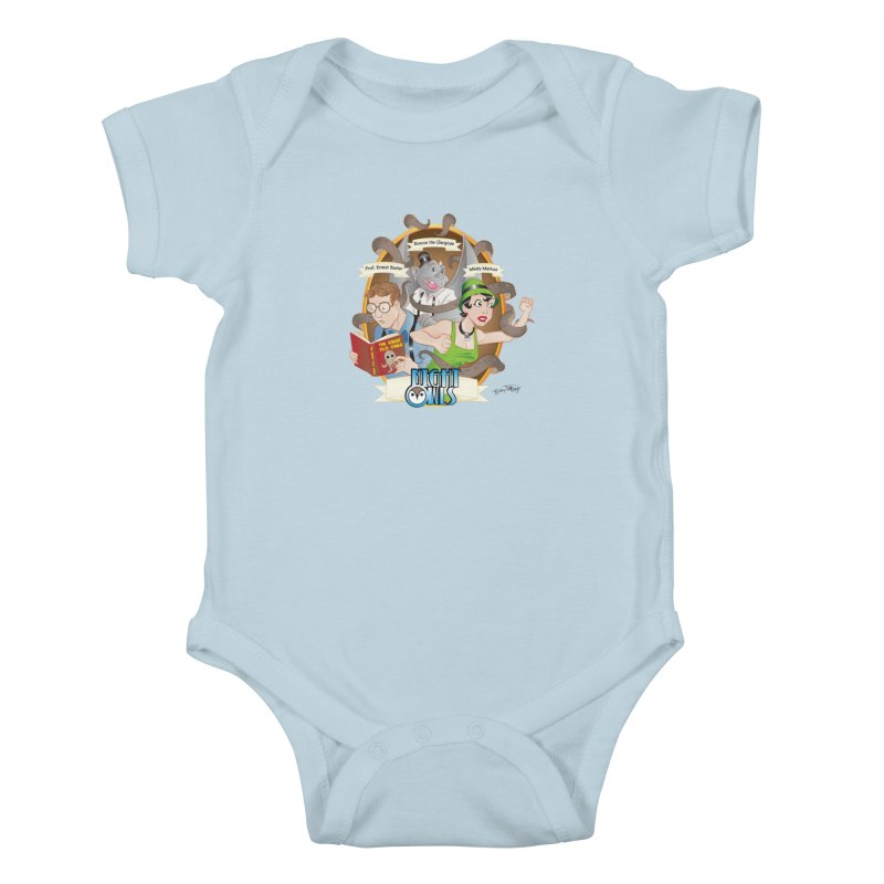Night Owls Kids Baby Bodysuit by Twin Comics's Artist Shop