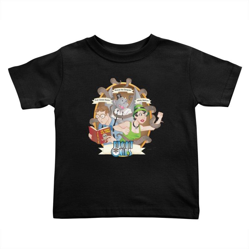 Night Owls Kids Toddler T-Shirt by Twin Comics's Artist Shop