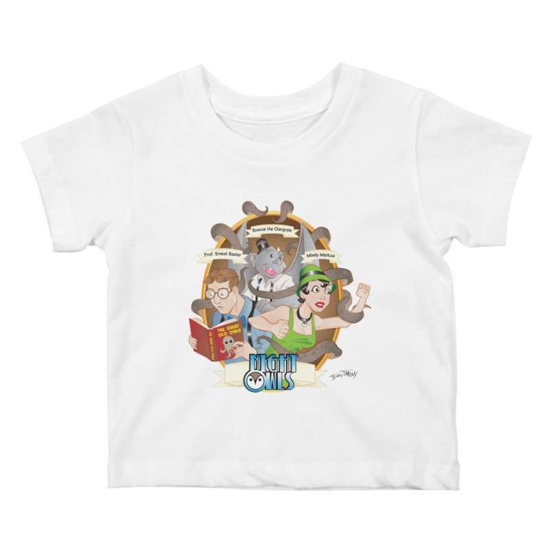 Night Owls Kids Baby T-Shirt by Twin Comics's Artist Shop