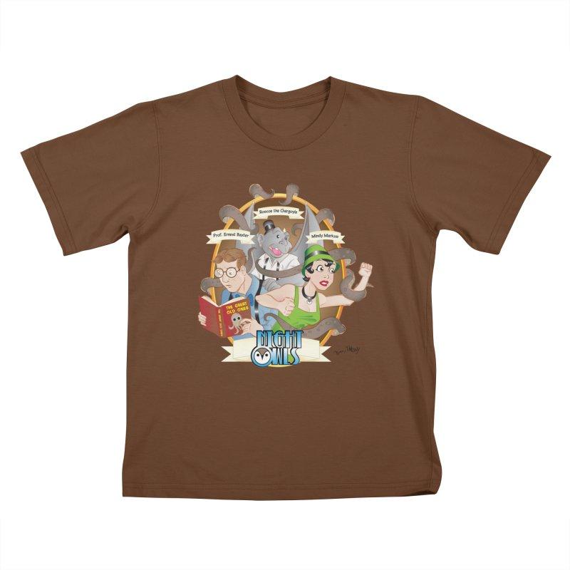 Night Owls Kids T-Shirt by Twin Comics's Artist Shop