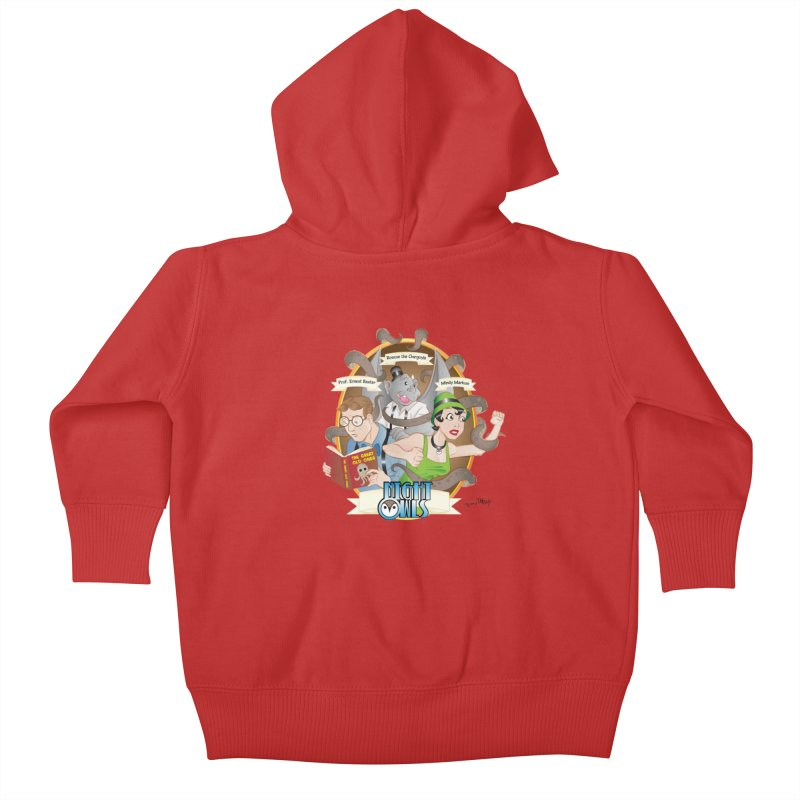 Night Owls Kids Baby Zip-Up Hoody by Twin Comics's Artist Shop