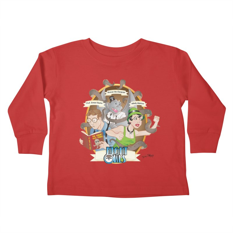 Night Owls Kids Toddler Longsleeve T-Shirt by Twin Comics's Artist Shop