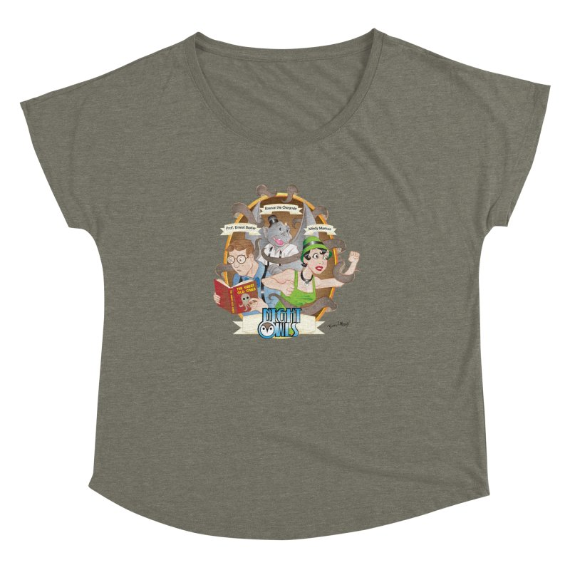 Night Owls Women's Dolman Scoop Neck by Twin Comics's Artist Shop