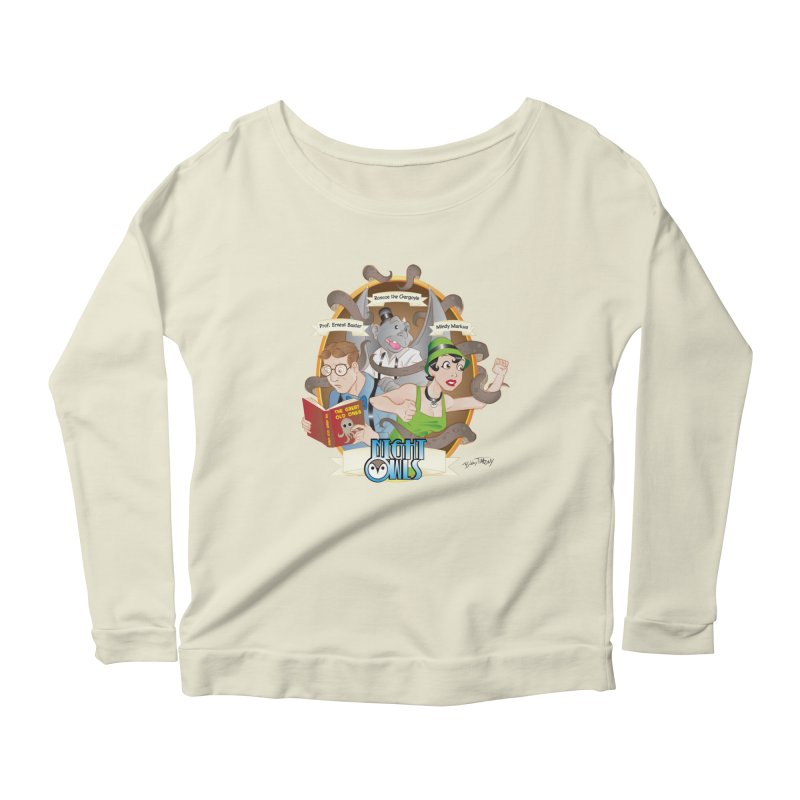 Night Owls Women's Scoop Neck Longsleeve T-Shirt by Twin Comics's Artist Shop