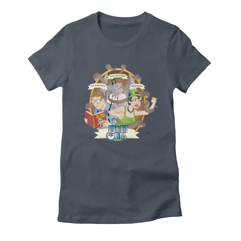 Night Owls Women's Fitted T-Shirt by Twin Comics's Artist Shop