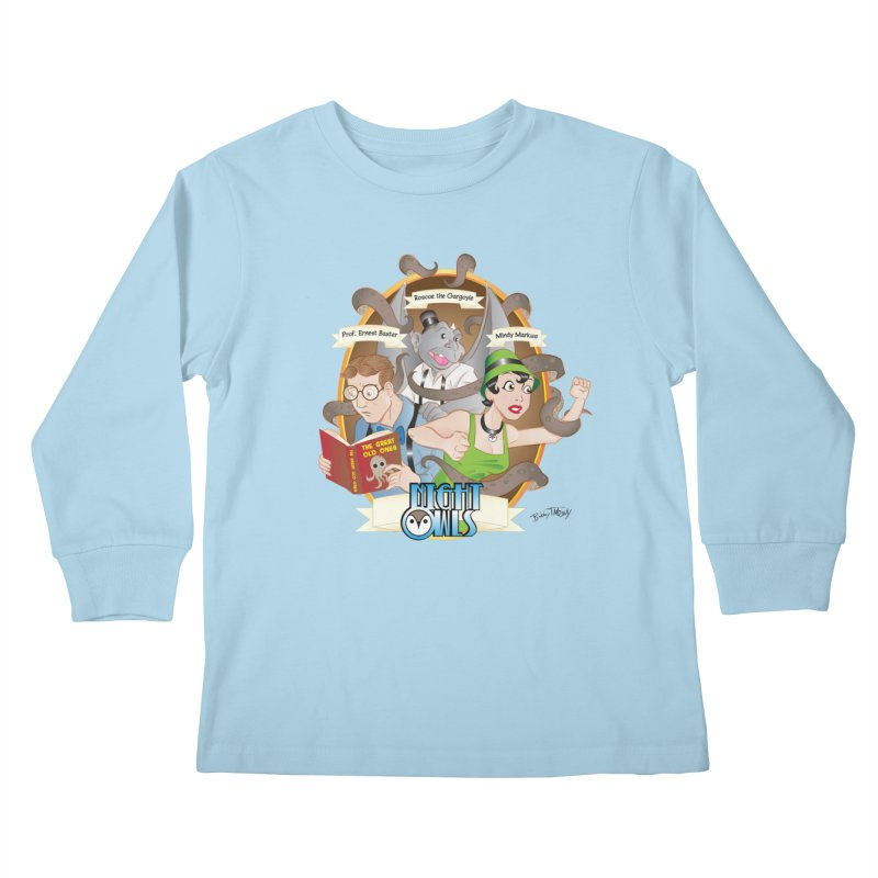 Night Owls Kids Longsleeve T-Shirt by Twin Comics's Artist Shop