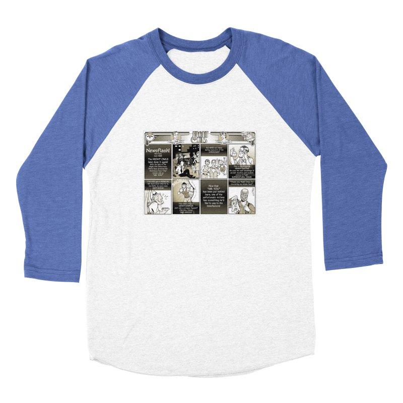 Night Owls First Appearance Men's Baseball Triblend Longsleeve T-Shirt by Twin Comics's Artist Shop