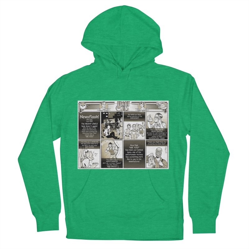 Night Owls First Appearance Women's French Terry Pullover Hoody by Twin Comics's Artist Shop