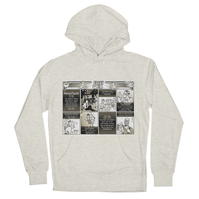 Night Owls First Appearance Men's French Terry Pullover Hoody by Twin Comics's Artist Shop