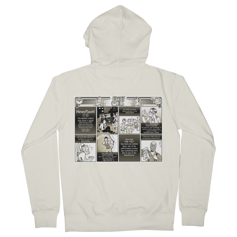 Night Owls First Appearance Women's French Terry Zip-Up Hoody by Twin Comics's Artist Shop