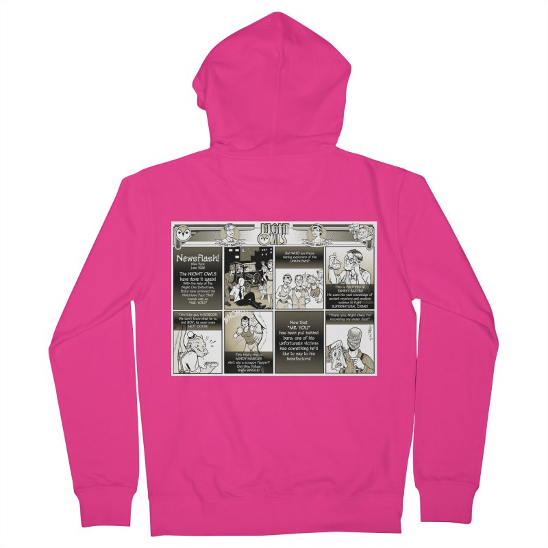 Night Owls First Appearance Men's French Terry Zip-Up Hoody by Twin Comics's Artist Shop